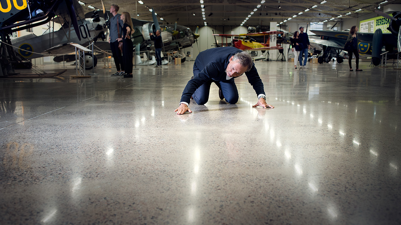A polished concrete floor of beauty - HTC Superfloor™