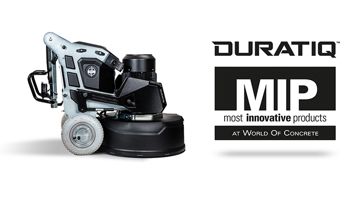 Most Innovative Product - DURATIQ floor grinding machine