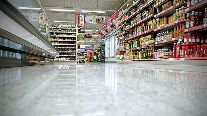 twister in a supermarket On store flooring